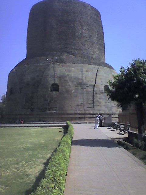 The Dharmek Stupa at Sarnath.