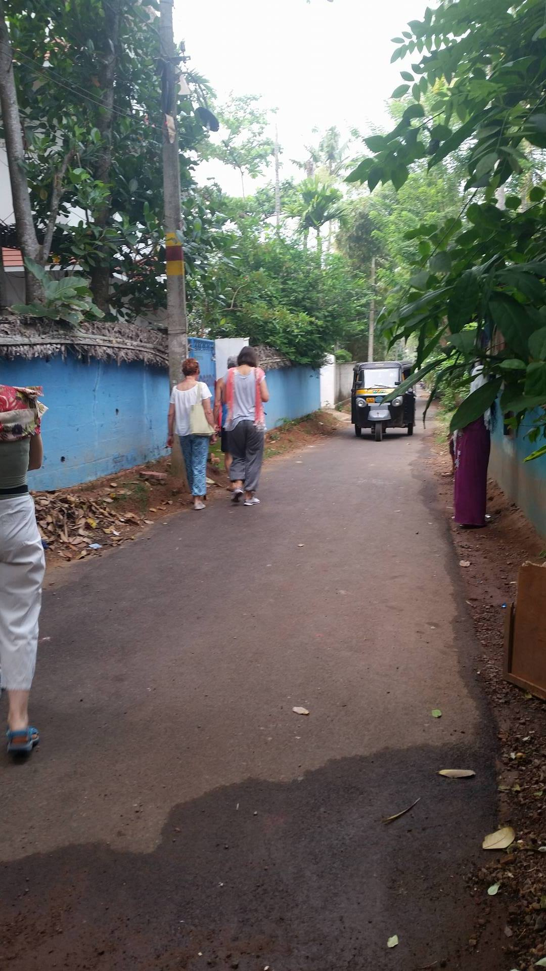 village street upgraded from potholed dirt