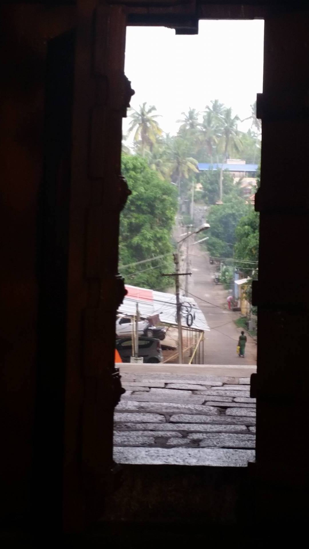View from within temple in Varkala