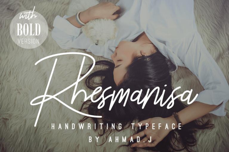 Rhesmanisa - Signature Font
