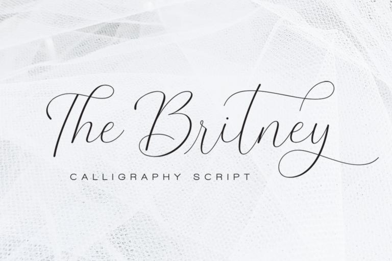 Preview image of The Britney – Elegant Script Font