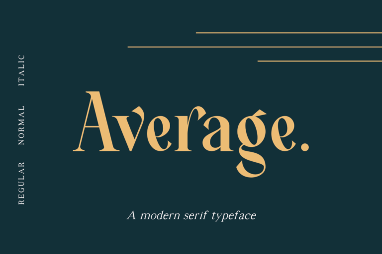 Preview image of Average – Modern Serif Typeface