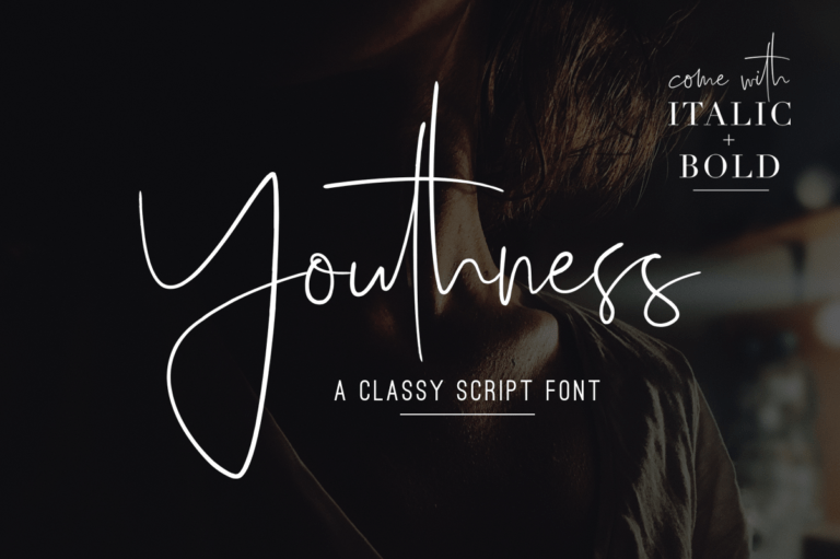 Youthness - Signature Font