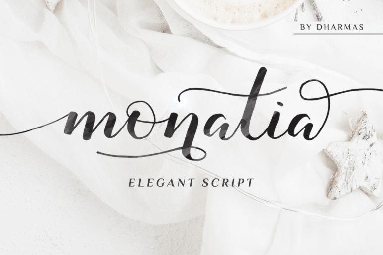 Preview image of Monatia – Elegant Script