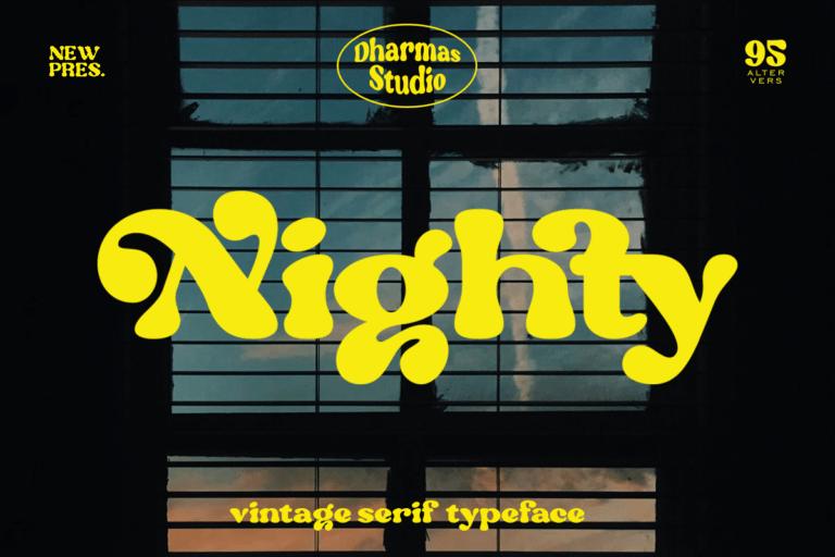 Nighty - Vintage Serif Typeface