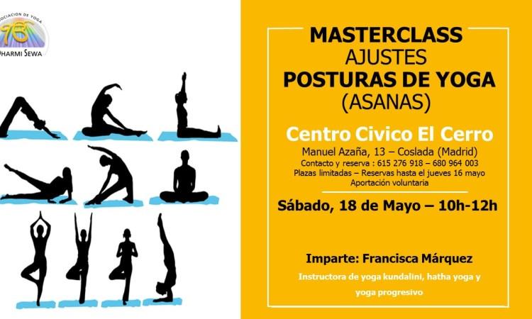 Masterclass ajustes y posturas de Yoga