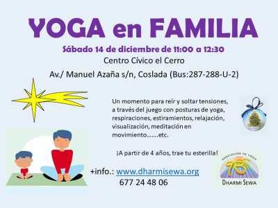Yoga en Familia. Próximos talleres 14 de diciembre