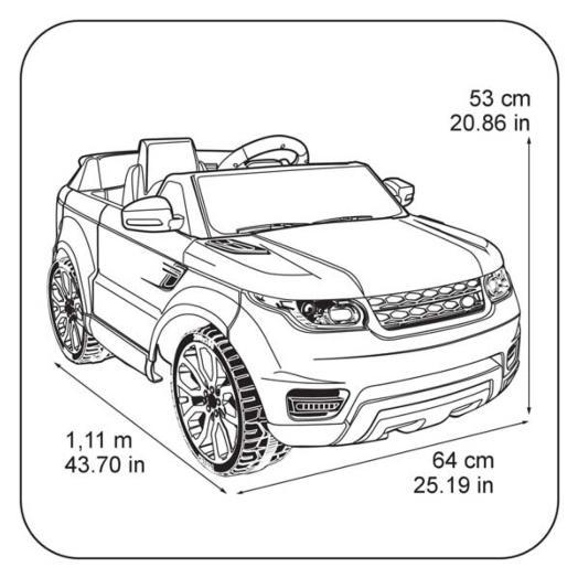 carro infantil feber range rover sport 6v