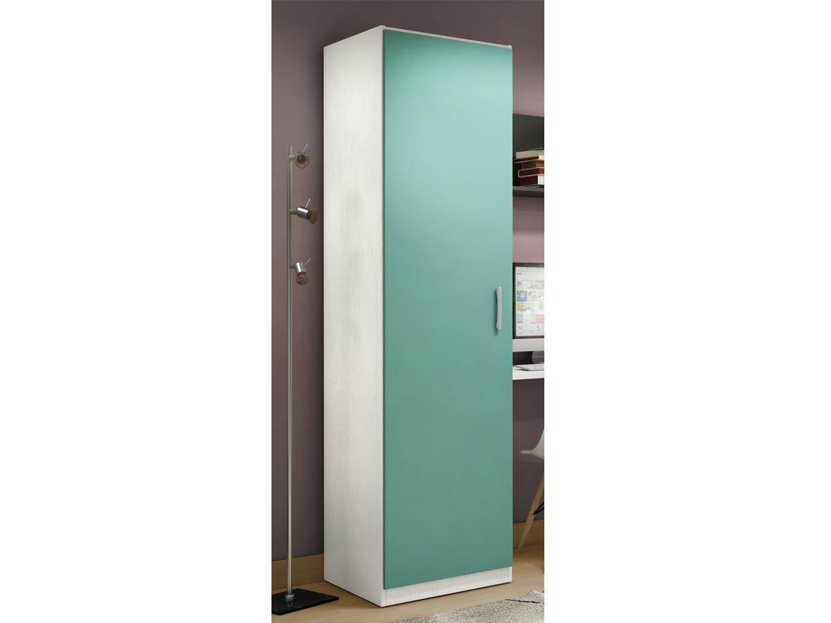 Armario de una puerta para habitacin juvenil en varios
