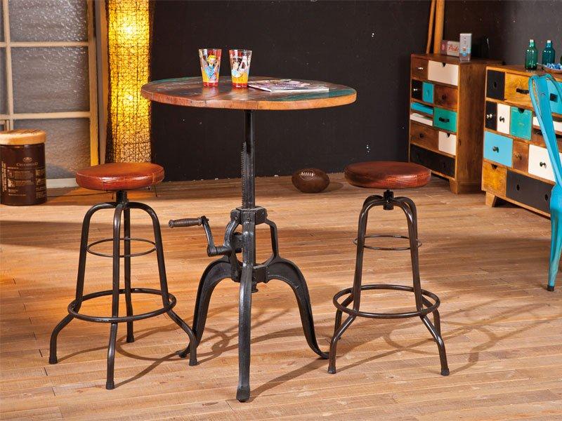 Mesa alta bar en madera