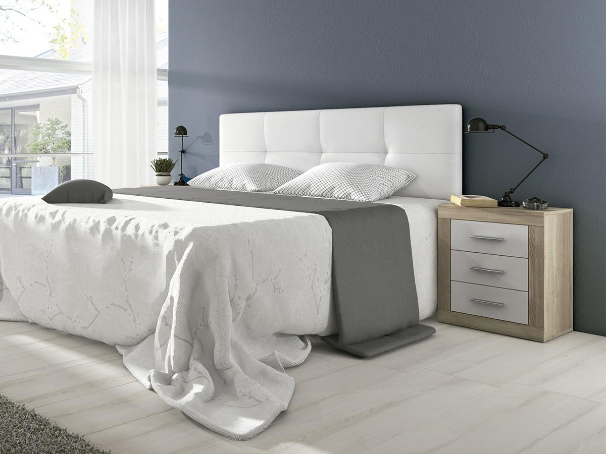 Cabecero de cama acolchado cabezal cama tapizado color blanco