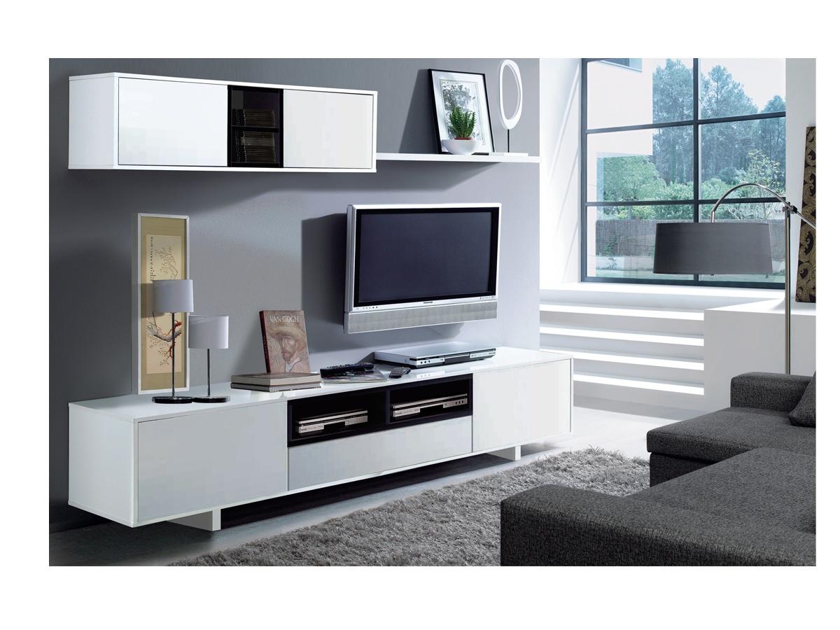 Mueble de comedor para tv blanco y negro oferta saln