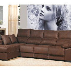 Y Sofa Average Cost Of Reupholstering A Sofá Chaise Longue De 4 Plazas Color Chocolate