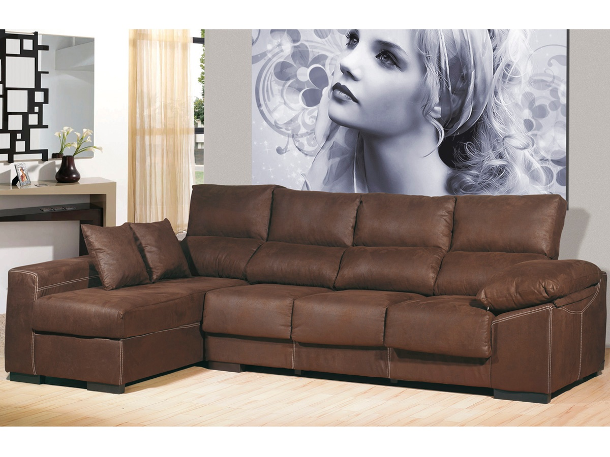 Ofertas De Sofas En Muebles Rey Sofá Chaise Longue De 4 Plazas Chaise Longue Color Chocolate