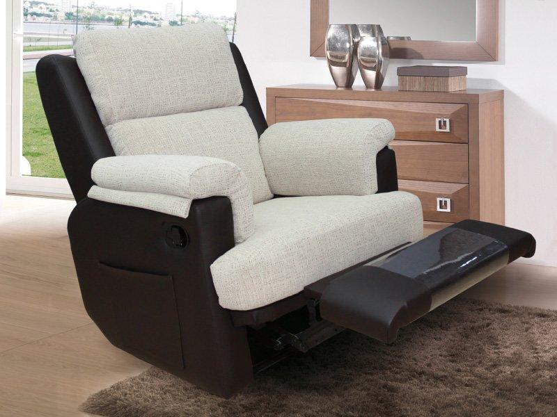 Silln reclinable en rustika color chocolate silln con relax