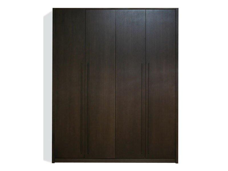 Armario habitacin de madera wengu 4 puertas mueble de