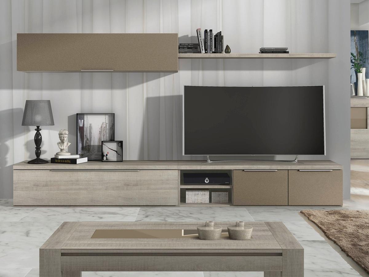 Mueble modular para saln de diseo en color blanco y negro