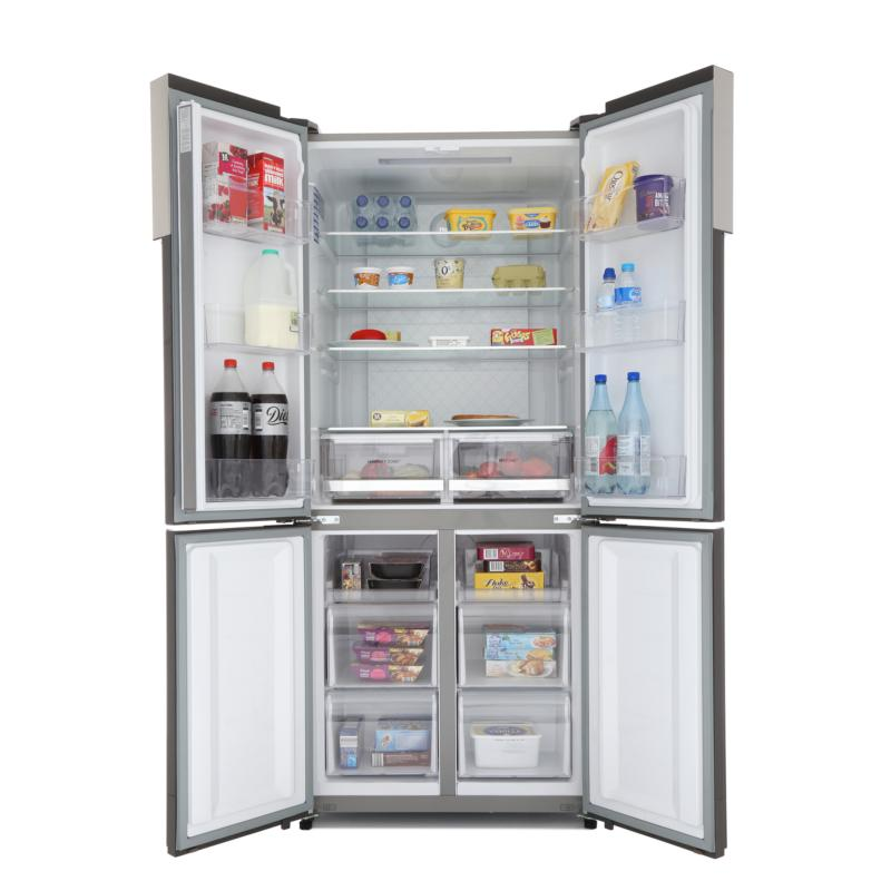 FRIGORIFICO SIDE BY SIDE NO FROST A 4 PUERTAS INOX HAIER
