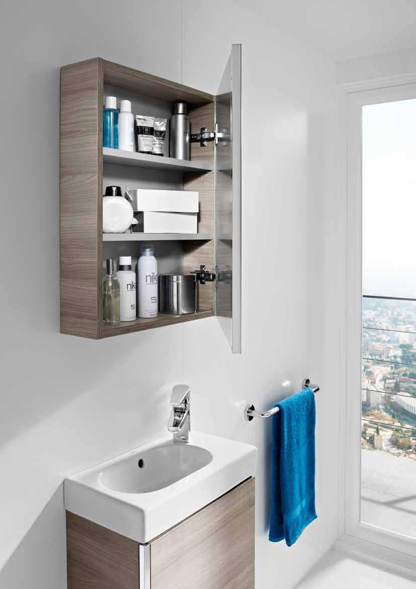 Mueble Mini con armario espejo Roca  Bao Decoracin