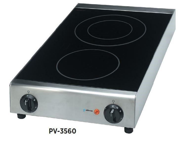 cocina industrial vitroceramica de sobremesa edenox