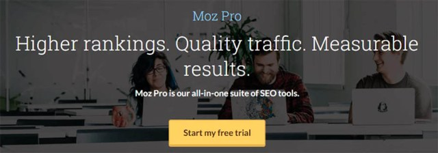 Moz Pro homepage.