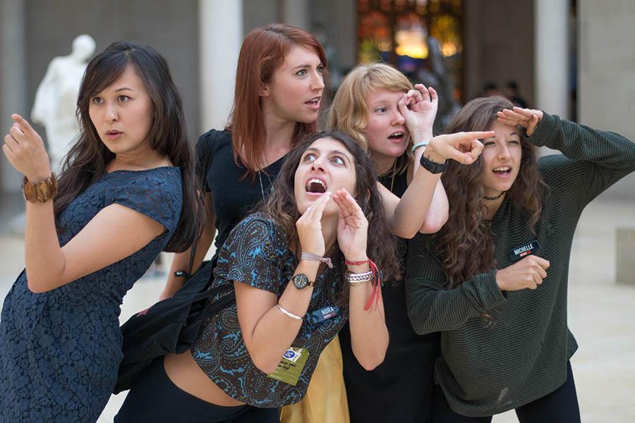 Museum Hack tour guides having fun between tours.