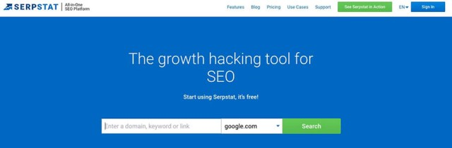 Alt text: Serpstat all-in-one SEO tool.