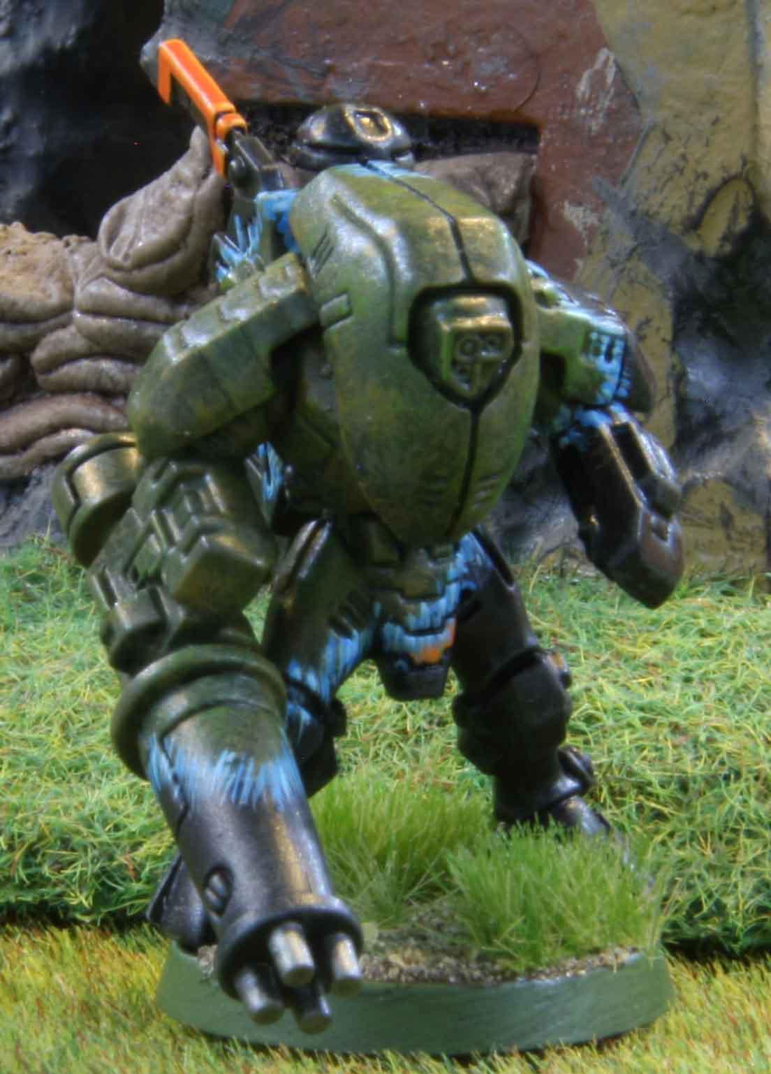 Warhammer 40K Tau Stealth Suit team  dhcwargamesblog