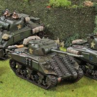 Two troops of Irish Guards Shermans... yes in 28mm