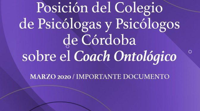 El Colegio de Psicólogos de Córdoba advierte sobre el Coaching Ontológico