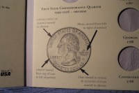 50 State Quarter Holder Collector Album Folder Book!!!