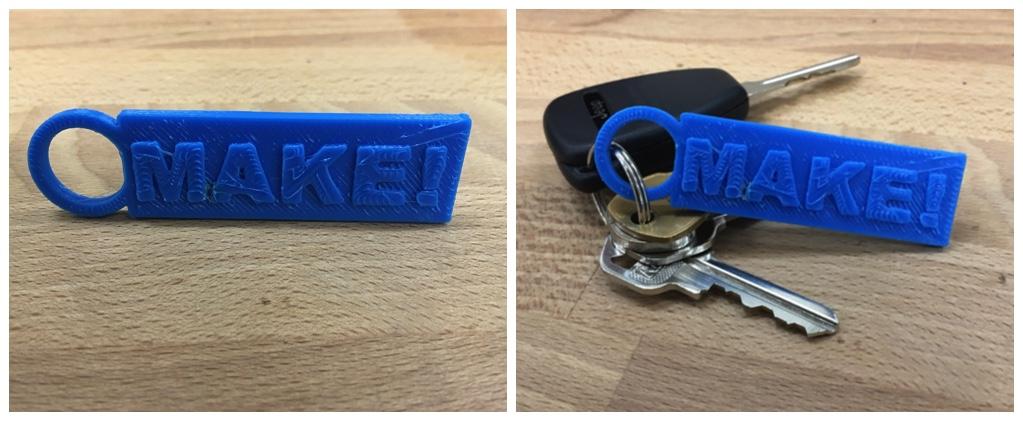 3d printed keychain blueprint
