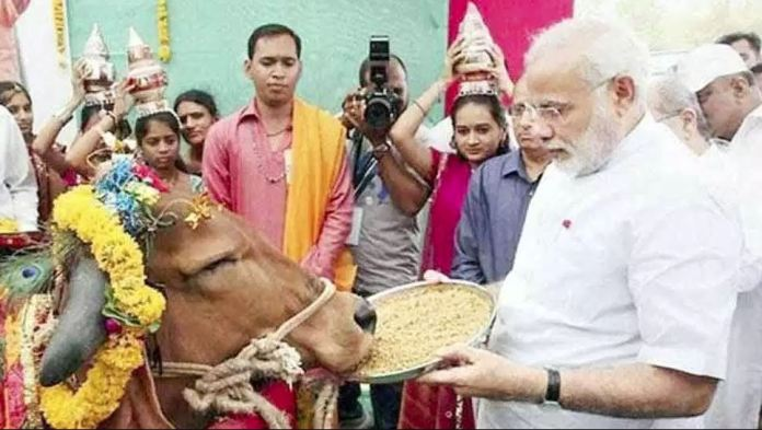 06 July23 Modi doneating 200 cows - 1