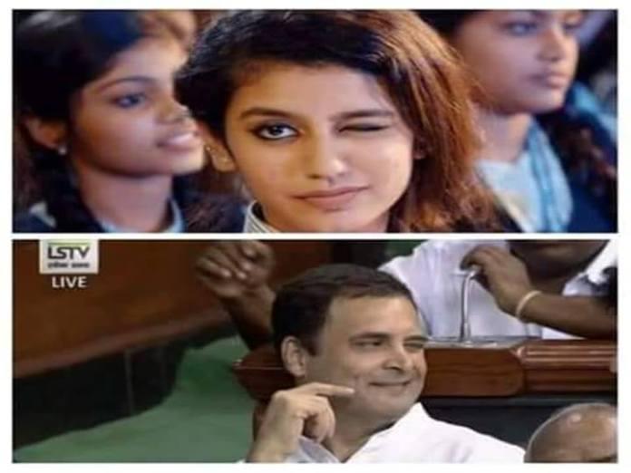 கண்ணடிக்கக் கற்றுத் தர்றாங்க பாருங்க ராகுல்..! வேஸ்ட் பண்ணிட்டீங்களே!