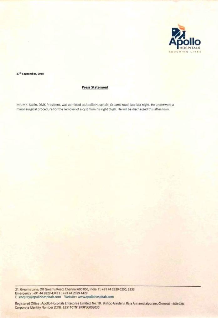 திமுக தலைவர் மு.க.ஸ்டாலின் நலமுடன் உள்ளார்: வைகோ பேட்டி