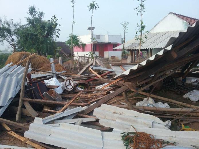 புதுக்கோட்டை மாவட்டம் அறந்தாங்கி பகுதியில் வீடுகள் சேதம்