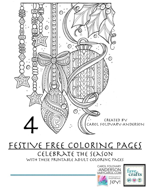 20 Festive & Free Holiday Coloring Pages for Adults [PDF