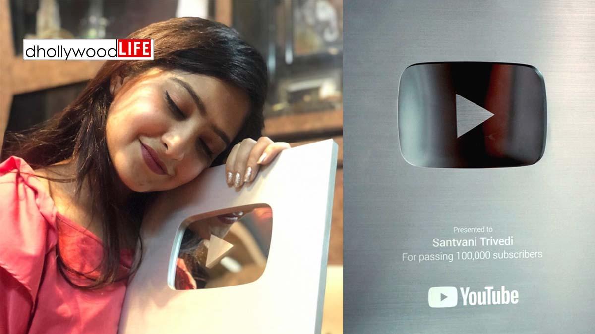 "YouTube gives Silver Play Button ""Award"" to renowned Gujarat singer Santvani Trivedi"