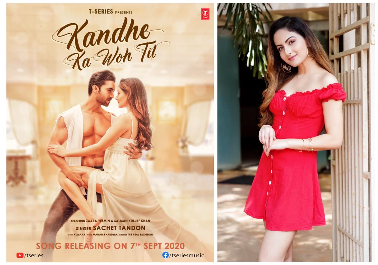 Actress-Model Zaara Yesmin is all set to treat her fans with the latest song Kandhe Ka Woh Til