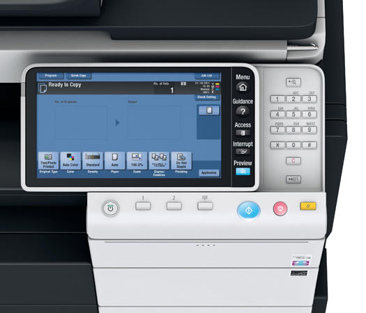 Konica Minolta Bizhub C754e Copier Printer Scanner