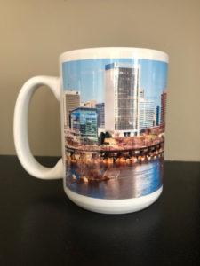 Left View of Richmond Skyline Elite Mug