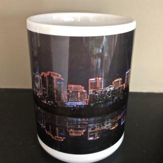 Centre View of. Richmond NightSkyline Elite Mug