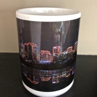Centre View of. Richmond NightSkyline Elite Mug