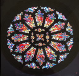 Rose Window Metal Print