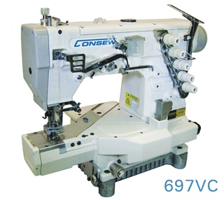 High Speed Flat Cylinder Coverstitch Machine with or with Binding Attachments.