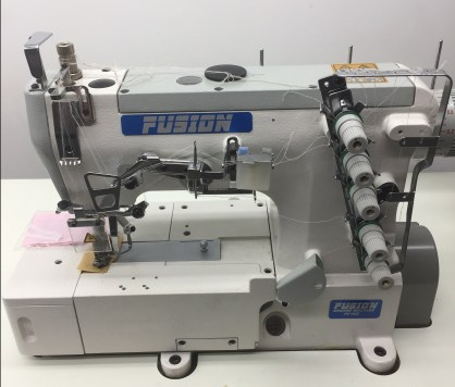 Fusion W562-1-364 High Speed , Flat Bed, Interlock Sewing Machine, 3 Needle Cover Stitch