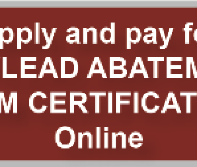 Lead Program Now Accepting Online Payments
