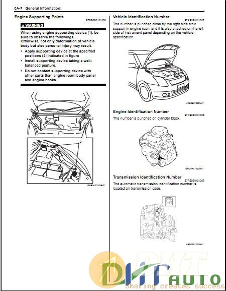 Service Manual - Suzuki Swift Sport 2004