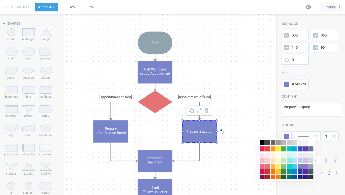 hight resolution of javascript diagram and org chart editors