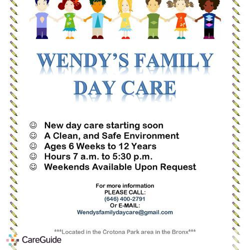Family Day Care Now Enrolling Daycare Provider In Bronx